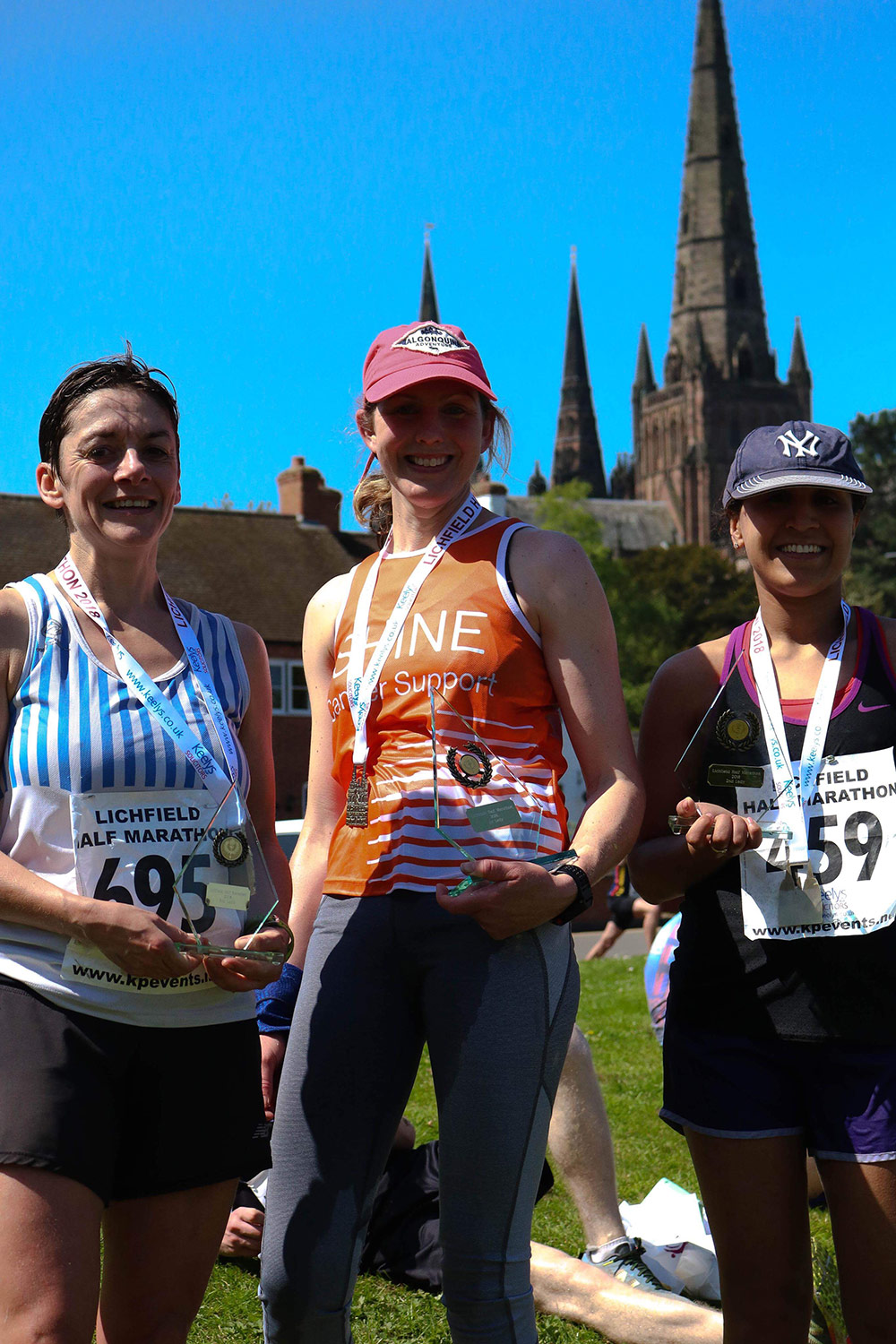 Female winners The Lichfield Half-Marathon - 6th May 2018
