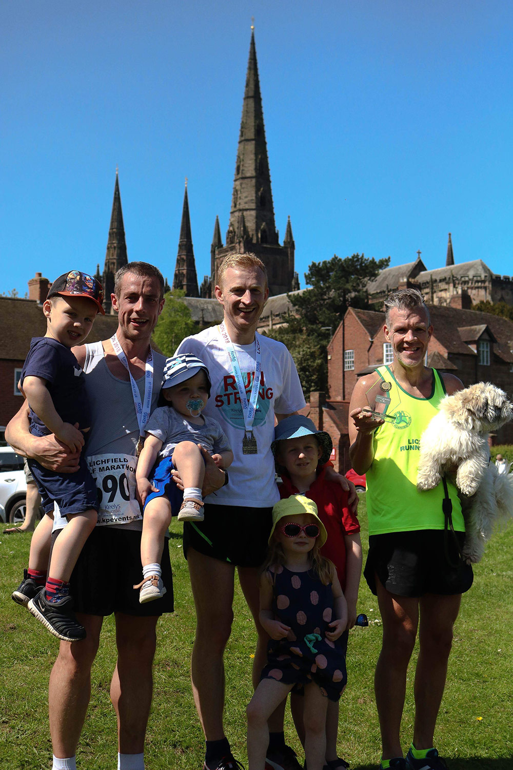 Male winners The Lichfield Half-Marathon - 6th May 2018