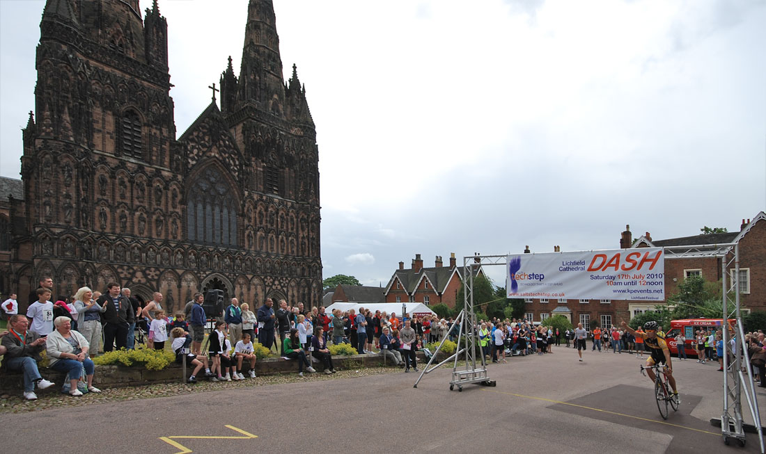 Lichfield Dash 2010 - Man vs Bike event