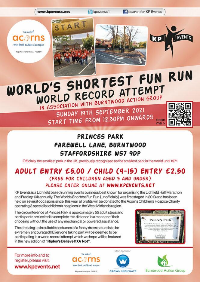 Worlds Shortest Fun Run 19th Sept 2021