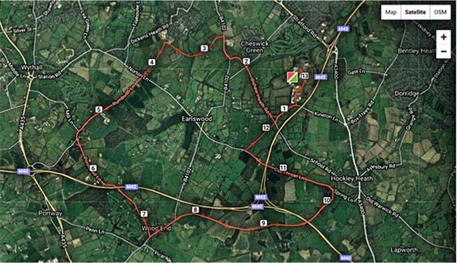 Solihull-Half-Marathon-Route
