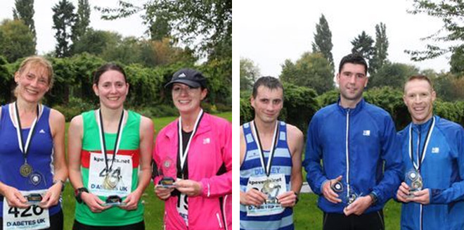 Winners of the Tamworth 10k - 13th Oct 2013