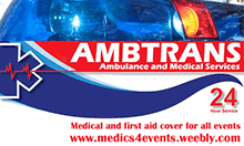 MEDICS4EVENTS provides professional first aid and medical cover for all types of events.