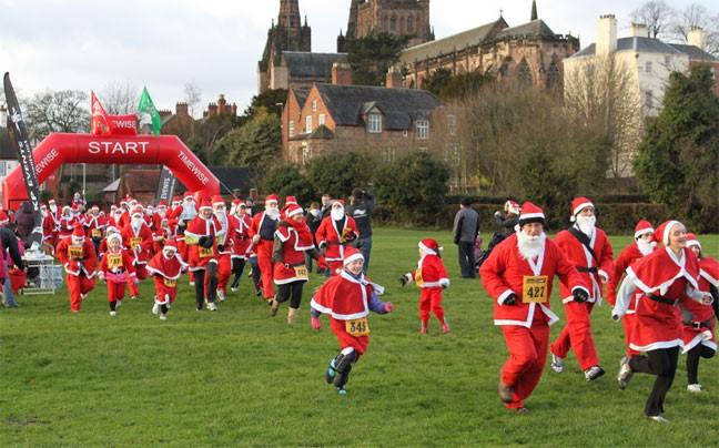 MACS Charity Santa Run - Lichfield