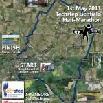2011 Lichfield half-marathon route