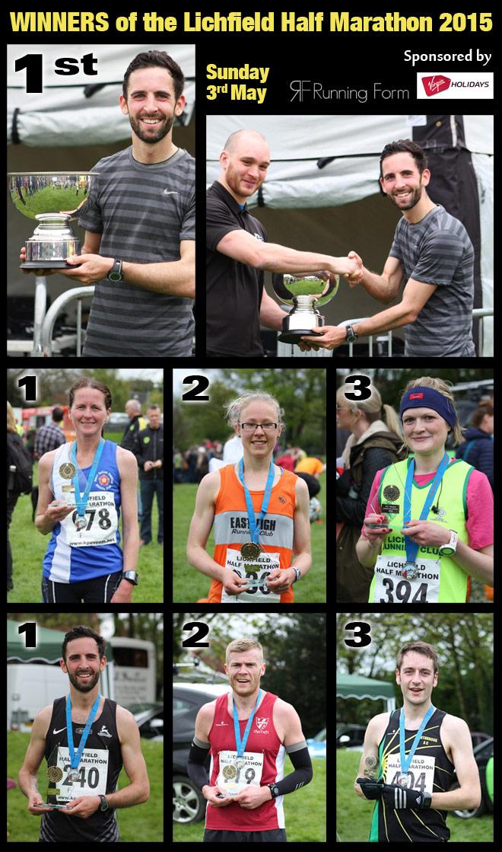 Lichfield Half-marathon 2015 Winners