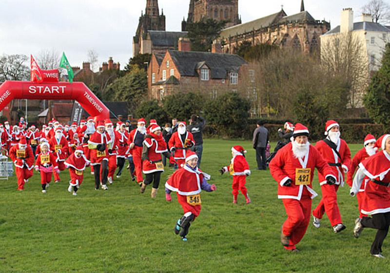 EVENT – Charity Santa Dash – Lichfield – 9th December 2017 10.30 a.m